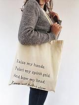 """Nákupné tašky - Ekologická taška """"Keep my heart slow"""" - 9835718_"""