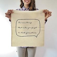 Nákupné tašky - Plátená taška- No phones! - 9835609_