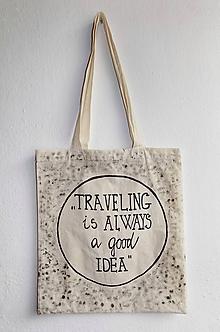 Nákupné tašky - Plátená taška- Traveling - 9835696_