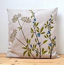 Úžitkový textil - Vankúš-ručne maľovaný-Keď dozrievajú trnky - 9837455_