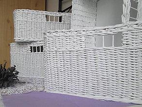 Košíky - KOŠÍKY - Biele s otvorom - 9838233_