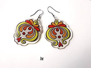 Náušnice - Ornamentky srdcové. - 9836510_