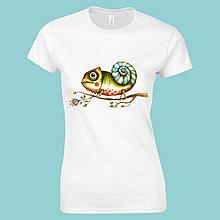 Tričká - Chameleón - tričko/strih A. - 9836928_