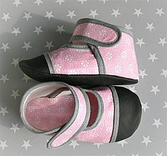 Topánočky - Detské papučky - capačky II (Ružová) - 9838731_