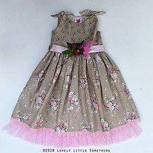 Detské oblečenie - Sweet Roses Dress 128/134 cm. - 9836875_