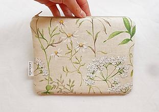 Taštičky - Taštička väčšia - Kvety na lúke - 9836817_