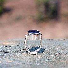 Prstene - Prsteň zo striebra - Modrák - 9838232_