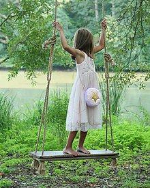 Detské tašky - OBOJSTRANNÁ KABELKA so zlatou hviezdičkou - 9838617_