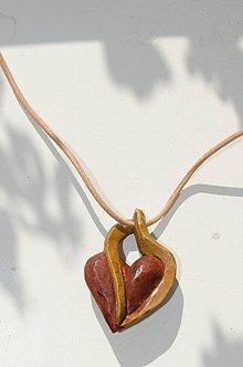 Náhrdelníky - srdce - prívesok - 9836121_