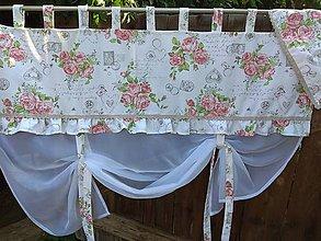 Úžitkový textil - Záclonka  vintage - 9838031_