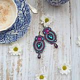 Náušnice - Colorful Crystals n.7- sutaškové náušnice - 9837828_