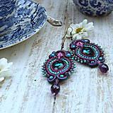 Náušnice - Colorful Crystals n.7- sutaškové náušnice - 9837829_