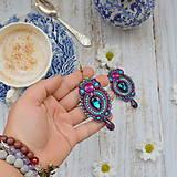 Náušnice - Colorful Crystals n.7- sutaškové náušnice - 9837830_