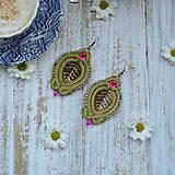 Náušnice - Autumn leaves - sutaškové náušnice - 9837833_