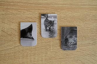 Papiernictvo - Magnetické záložky - Mačacia trilógia - 9836680_
