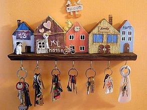Nábytok - domčekový vešiak na kľúče 4 - 9836974_