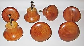 Drevené úchytky, masívne drevo - Sada 15 kusov