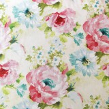 akvarelové kvety; predzrážaná 100 % bavlna Nemecko, šírka 140 cm, cena za 0,5 m
