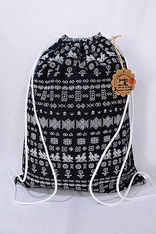 Batohy - Batoh-čičmanský vzor (Modrá) - 9836573_