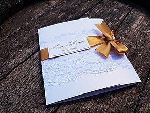 Papiernictvo - Svadobné oznámenie Gold romantic - 9837298_