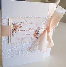 Papiernictvo - Svadobné oznámenie Romance - 9837348_