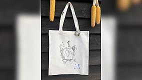 Iné tašky - ♥ Plátená, ručne maľovaná taška ♥ - 9835910_