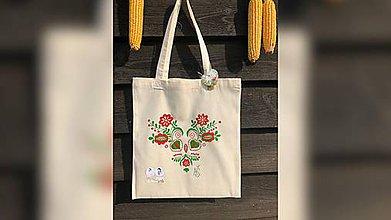Iné tašky - ♥ Plátená, ručne maľovaná taška ♥  (R1) - 9835961_