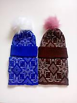 Detské čiapky - pletená čiapka a nákrčník - 9835510_