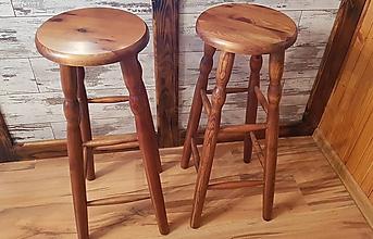 Nábytok - Barová drevená stolička orech - 9835646_