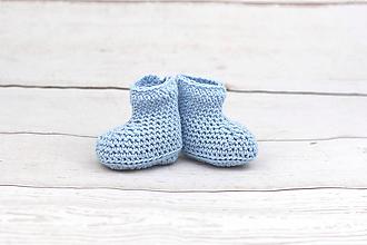 Topánočky - Bledomodré letné papučky BIO/ORGANIC - 9836258_