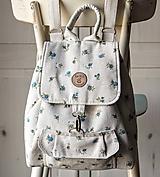 - Bavlnený vintage ruksak - 9835556_