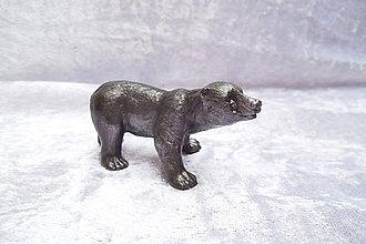 Socha - Cínová soška - l'adového medveďa - 9835750_