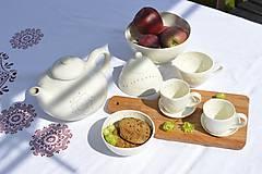 Nádoby - Madeirová porcelánová cukornička - 9836713_