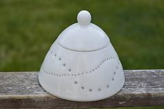 Nádoby - Madeirová porcelánová cukornička - 9836716_