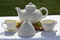 Nádoby - Madeirová porcelánová cukornička - 9836719_