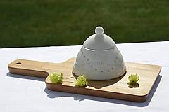 Nádoby - Madeirová porcelánová cukornička - 9836720_
