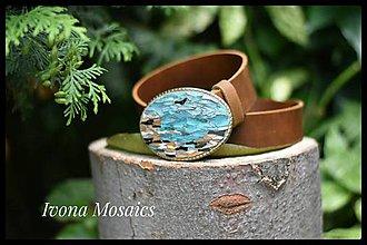 Opasky - Mozaiková pracka s opaskom More a útesy - 9837420_