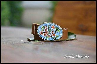 Opasky - Mozaiková pracka s opaskom Kytica kvetín - 9837450_