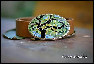 Opasky - Mozaiková pracka s opaskom Listnatý strom - 9837470_