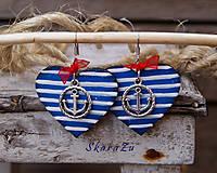 Náušnice - Ľúbim námorníka 3 - 9837574_
