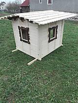 Dekorácie - Veľký záhradný drevený domček- zariadený - 9837937_