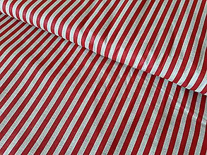 Textil - Červený pruh na ražnej - 9837600_