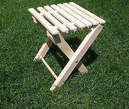 Nábytok - Drevená skladacia stolička - 9840076_