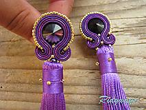Ultra violet/Gold - long tassel...soutache
