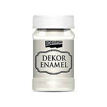 Farby-laky - Dekor enamel, 100 ml, dekoračný smalt, (prírodná biela) - 9839546_