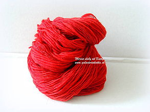 Materiál ručne robený - Červená trblietka - 9839543_