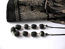 Náhrdelníky - ,,Noir,, - 9839801_