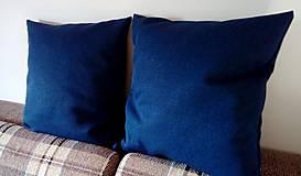 Úžitkový textil - vankúš indigo blue - 9840659_