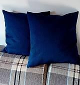 Úžitkový textil - vankúš indigo blue - 9840661_