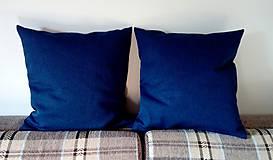 Úžitkový textil - vankúš indigo blue - 9840662_